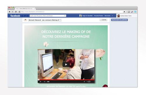 binsfeld devéloppe un jeu facebook autour du Making of de la campagne «l'occasion écusson» de Bernard-Massard